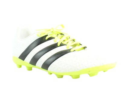 adidas Womens Ace 16.4 White/Black/Neon Yellow running shoes Size 6.5 (230620)