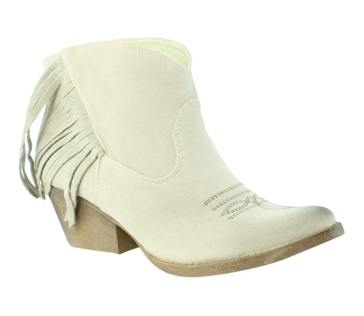 Spite Womens Spektor Beige Cowboy Boots Size 7 (231277)