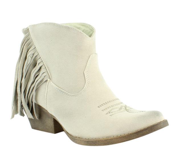 Spite Womens Spektor Beige Cowboy Boots Size 7 (232078)