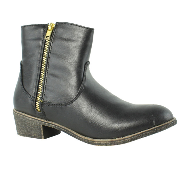 Diba Girl Womens 5465 Pine City Black Ankle Boots Size 6 (233259)