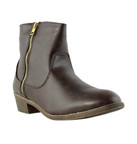 Diba Girl Womens 5465 Pine City Brown Ankle Boots Size 9 (231447)