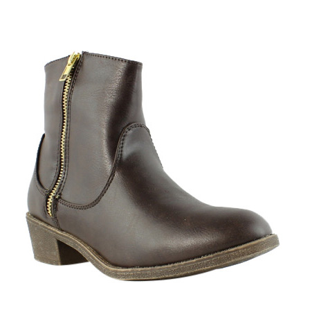 Diba Girl Womens 5465 Pine City Brown Booties Size 6.5 (231161)