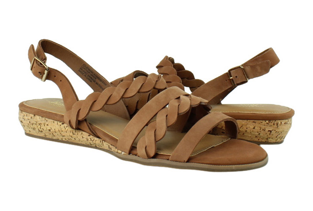 70afe15259 New G.H. Bass & Co. Womens Jolie Whiskey Strappy Sandals Size 8.5