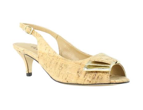 Online Without Sale Tax Womens Shoes Vaneli Ulita Natural Cork/Platino Met Nappa
