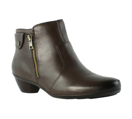 Natuarlizer Womens Brown Booties Size 8 Wide (C, D, W) (236264)