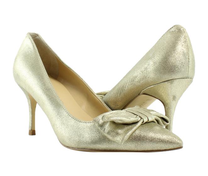 Ivanka Trump Womens Benny Gold Pumps, Classic Heels Size 4 (241172)