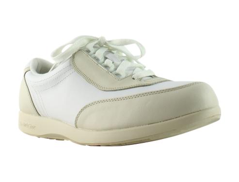 Hush Puppies Womens Classic Walker Beige white Running Cross Training Shoes