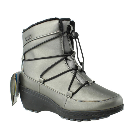 Khombu Womens Pewter Snow Boots Size 7 New