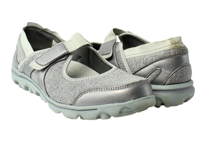 Propet-Womens-Gray-Ballet-Flats-Flats-Size-10-