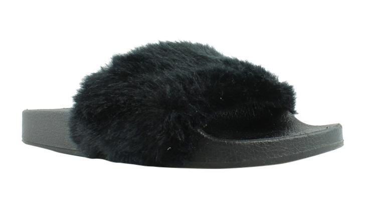 Steve Madden Womens Black Slippers Size 6 (259992)