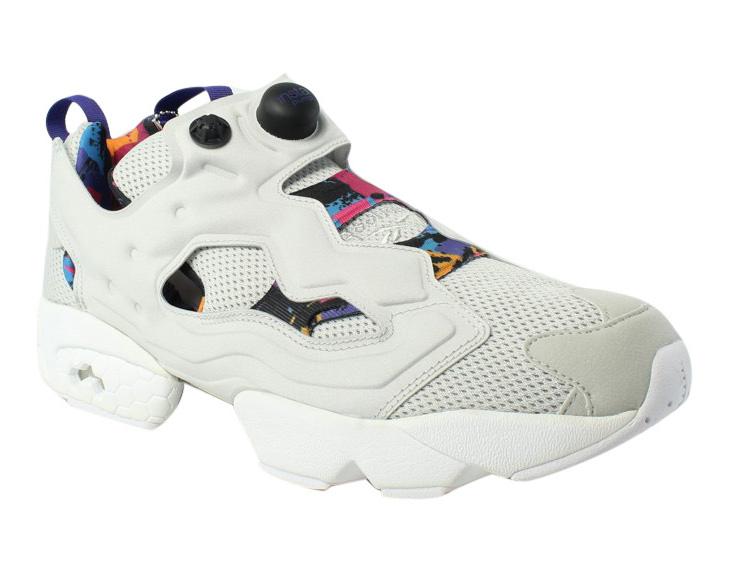 11dcbf6d587d Reebok Mens Instapump Fury AR Grey White Purple running shoe Size 11.5 New