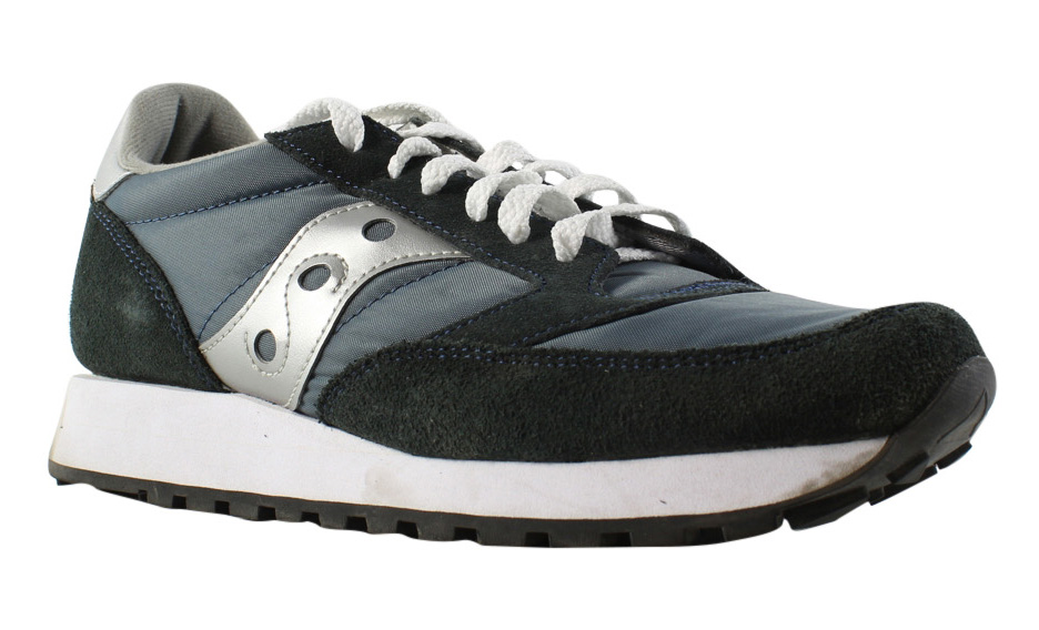 Saucony Mens Jazz Navy/Silver Running Cross Training Shoes Size 8.5 (281665)