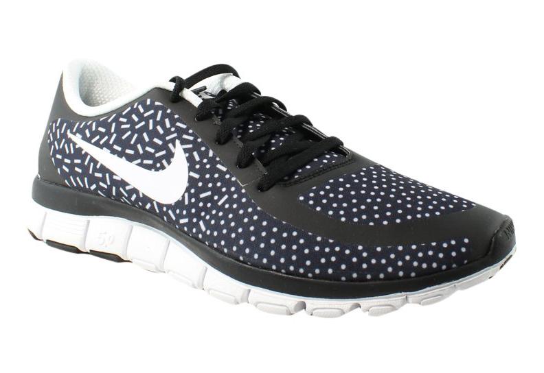 a7b89a7fdfa9c Nike Womens Free 5.0 V4 Ns Pt Black White Running Shoes Size 12 ...