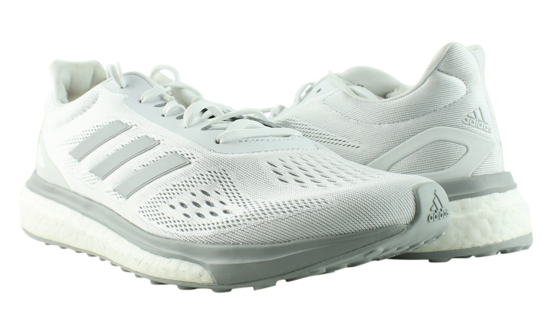 adidas Womens BA7784 White/Silver running shoes Size 7.5 (296979)