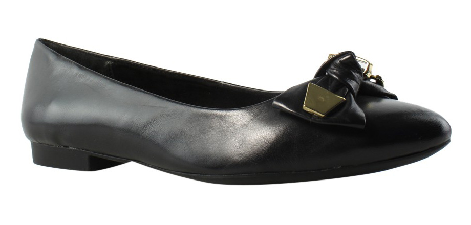 c6b93dd98bd8 Bella Vita Womens Ozark BlackLeather Ballet Flats Size 6 ...