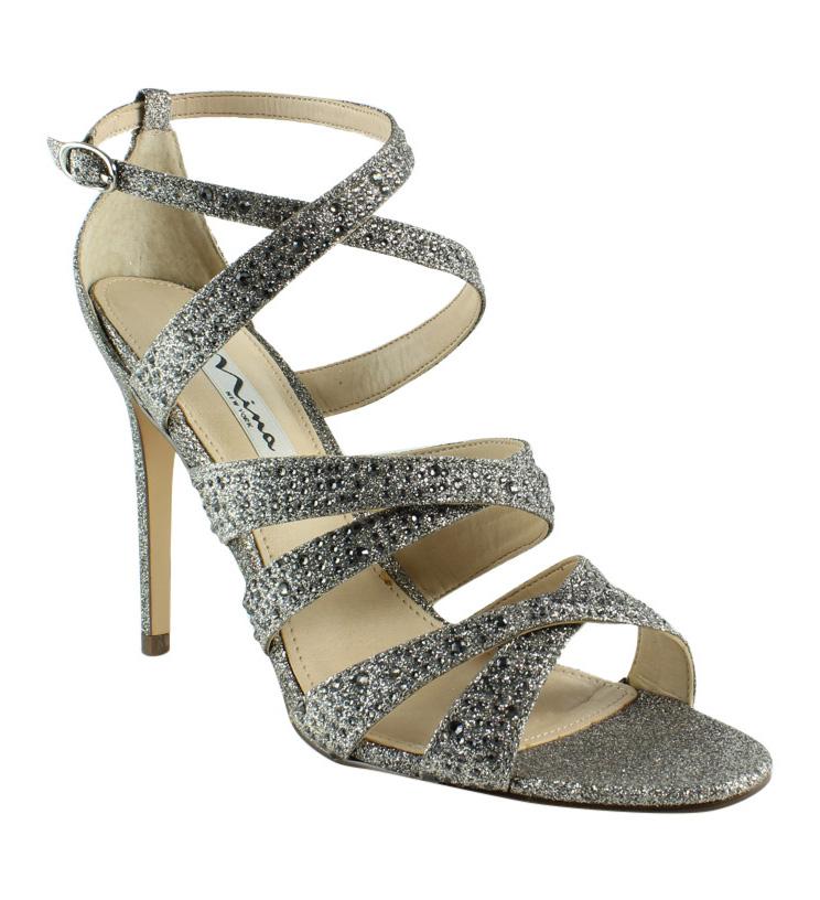 56d5b54a670 New Nina Womens Chantez-Yg Stone Ankle Strap Sandals Size 9 ...