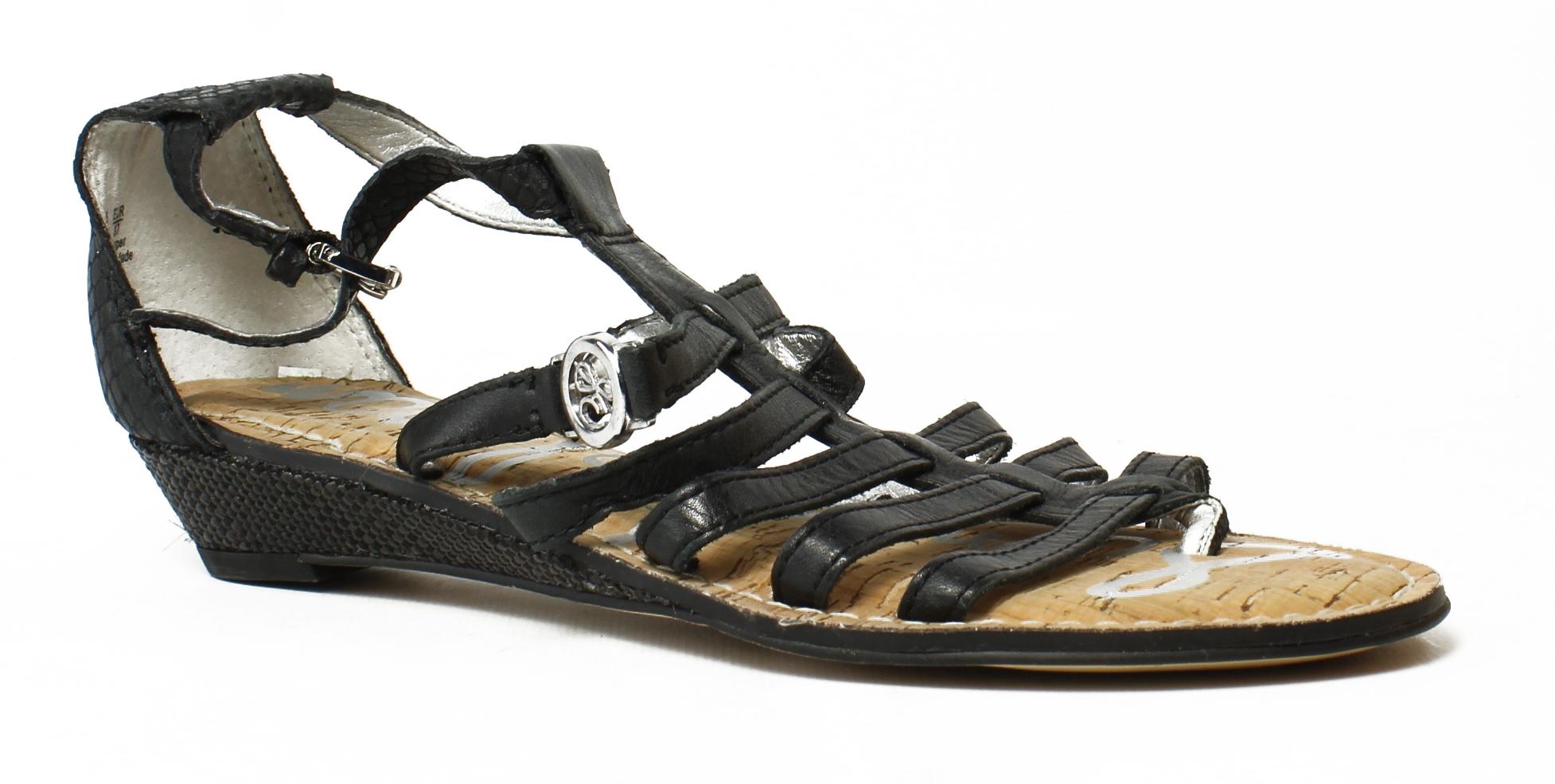 90462ce1ac26 Sam Edelman Womens Black Ankle Strap Sandals Size 6.5 (333256)