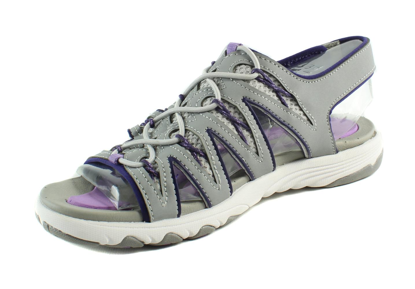 55961d9e0c4e Ryka Womens Glance-W Grey CoolMistGrey EnglishLavender Slides Size 6 ...