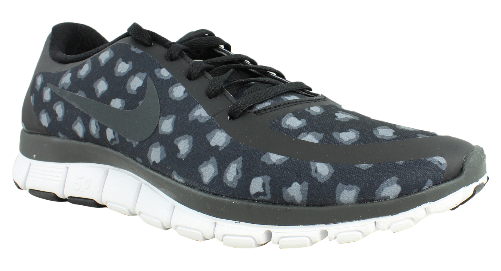 2339a8c8e3ef New Nike Womens Free 5.0 V4 Black Anthracite DarkGrey White Running Shoes  Size