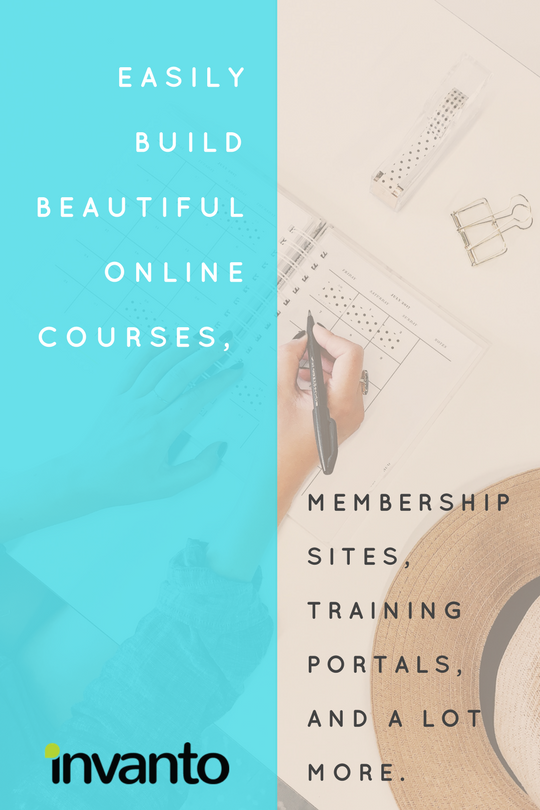 Easily build beautiful online courses, membership sites, training portals, and a lot more. Invanto platform makes building courses etc a breeze.