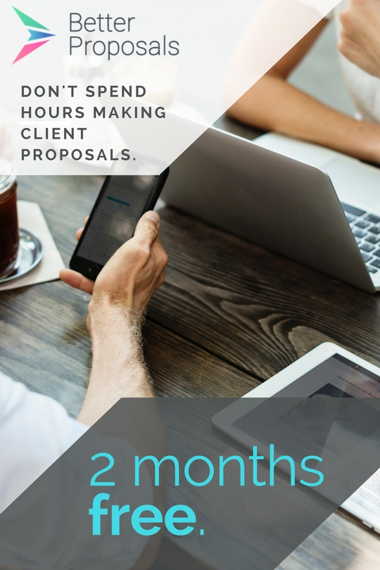 Save yourself hours doing client proposals by using @betterproposals. Get 2 months free!
