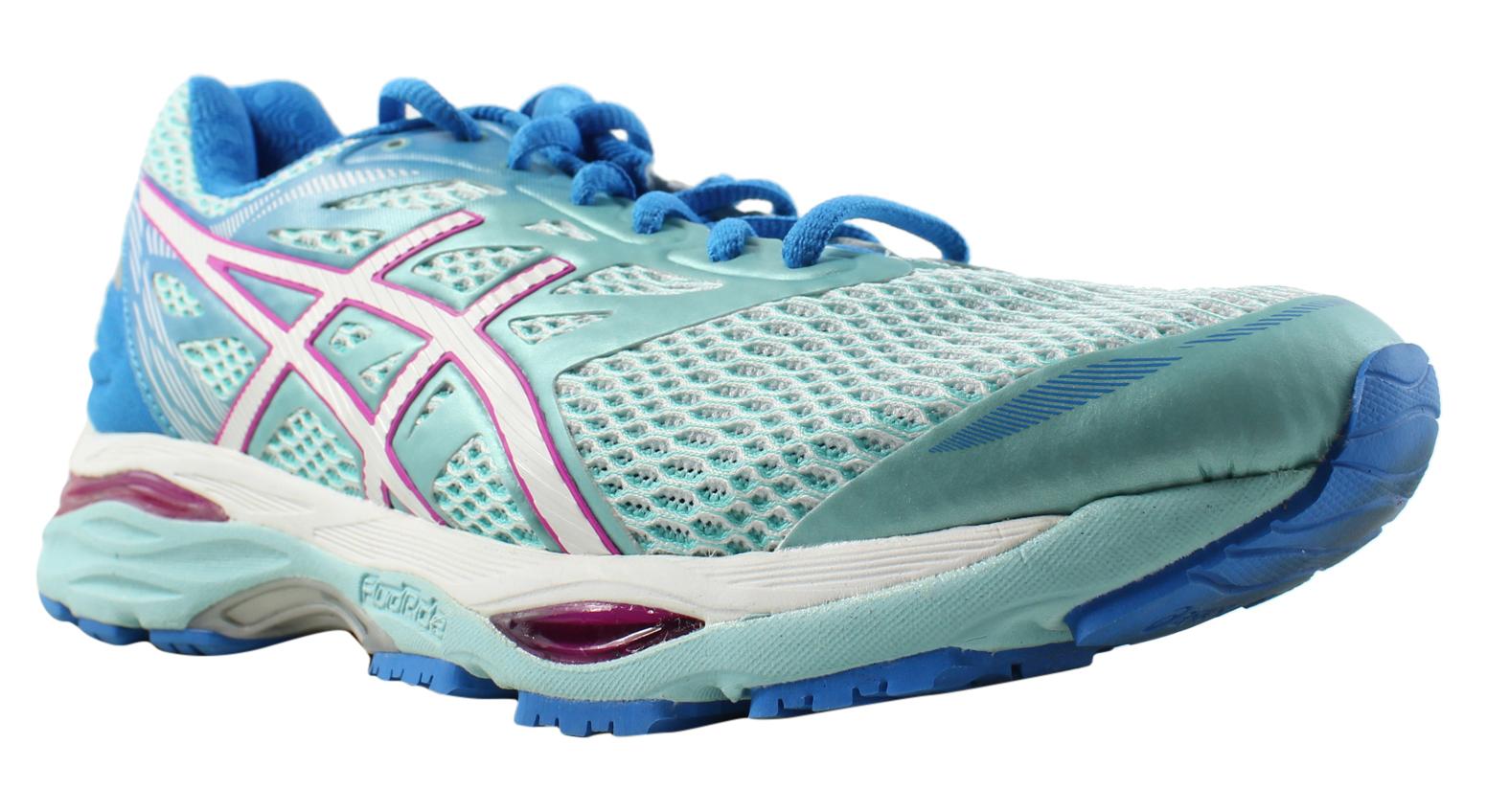 ASICS Damenschuhe - Blau Running Schuhes Größe 8 Wide (C, D, W) (346519)