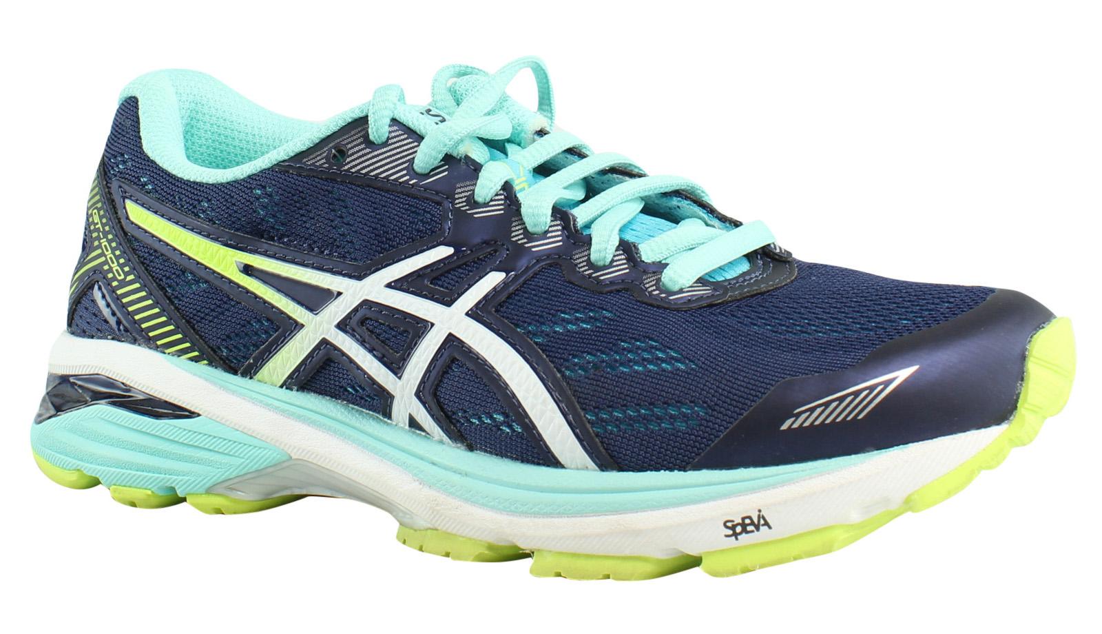 ASICS Womens - IndigoBlue/White/SafetyYellow Running Shoes Size Size Size 5 (347124) 6ea795