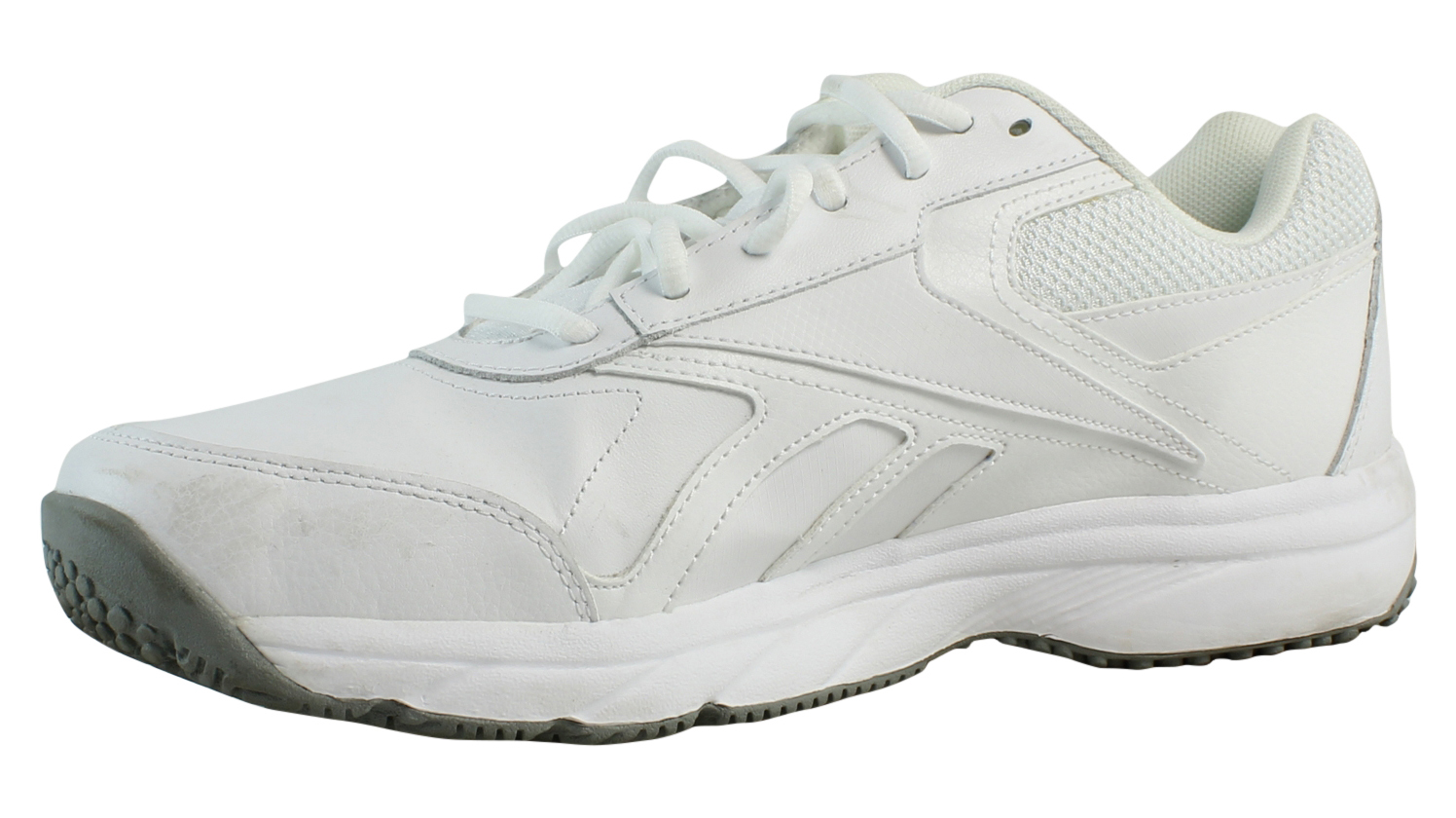 separation shoes 3c50e 882a9 ... Reebok Mens Mens Mens Work-Cushion White FlatGrey Walking Shoes Size 11  (351575 ...