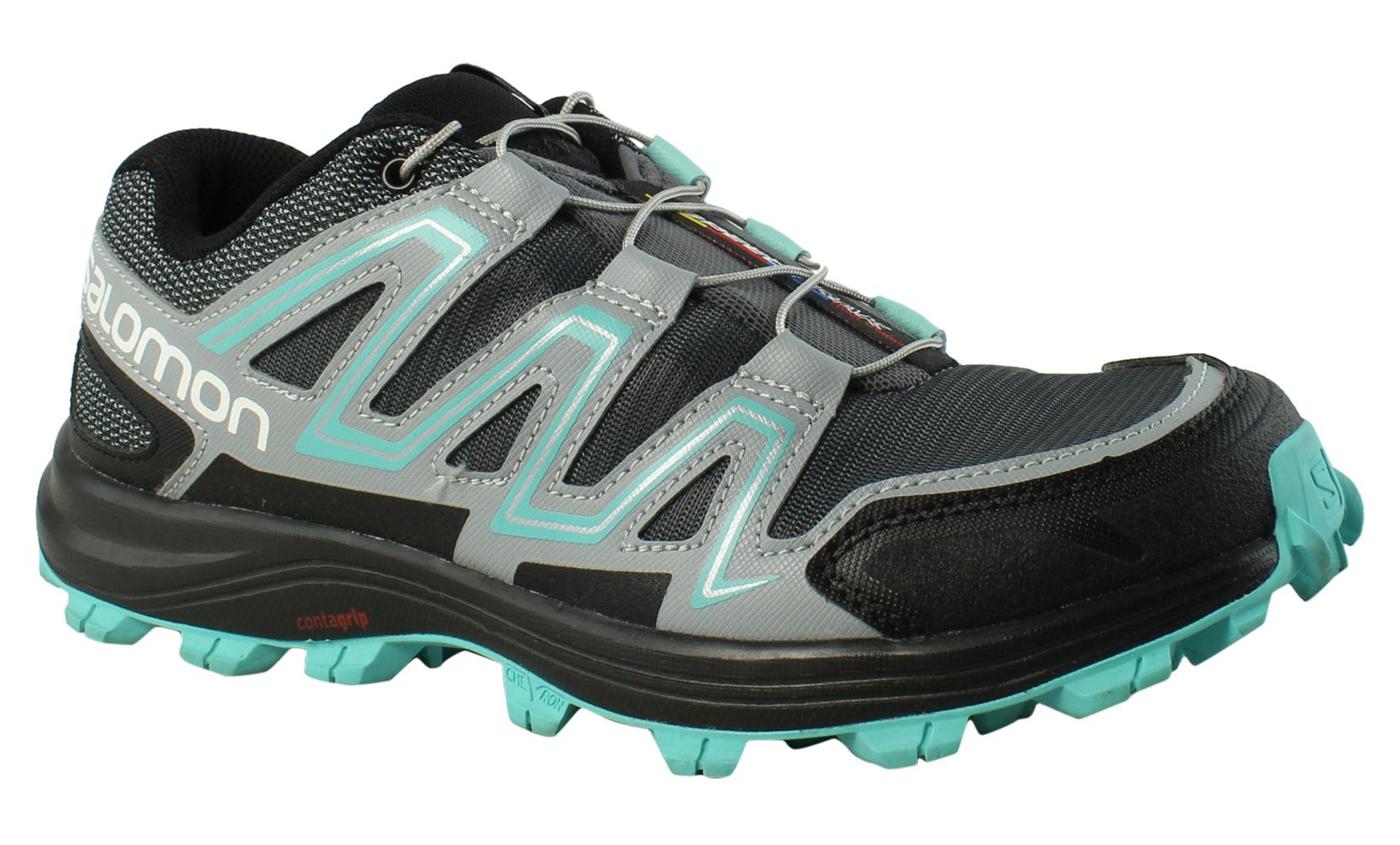 Salomon femmes  Speedtrak W DarkCloud/LightOnix/Bubblebleu Trail / Hiking  Chaussures