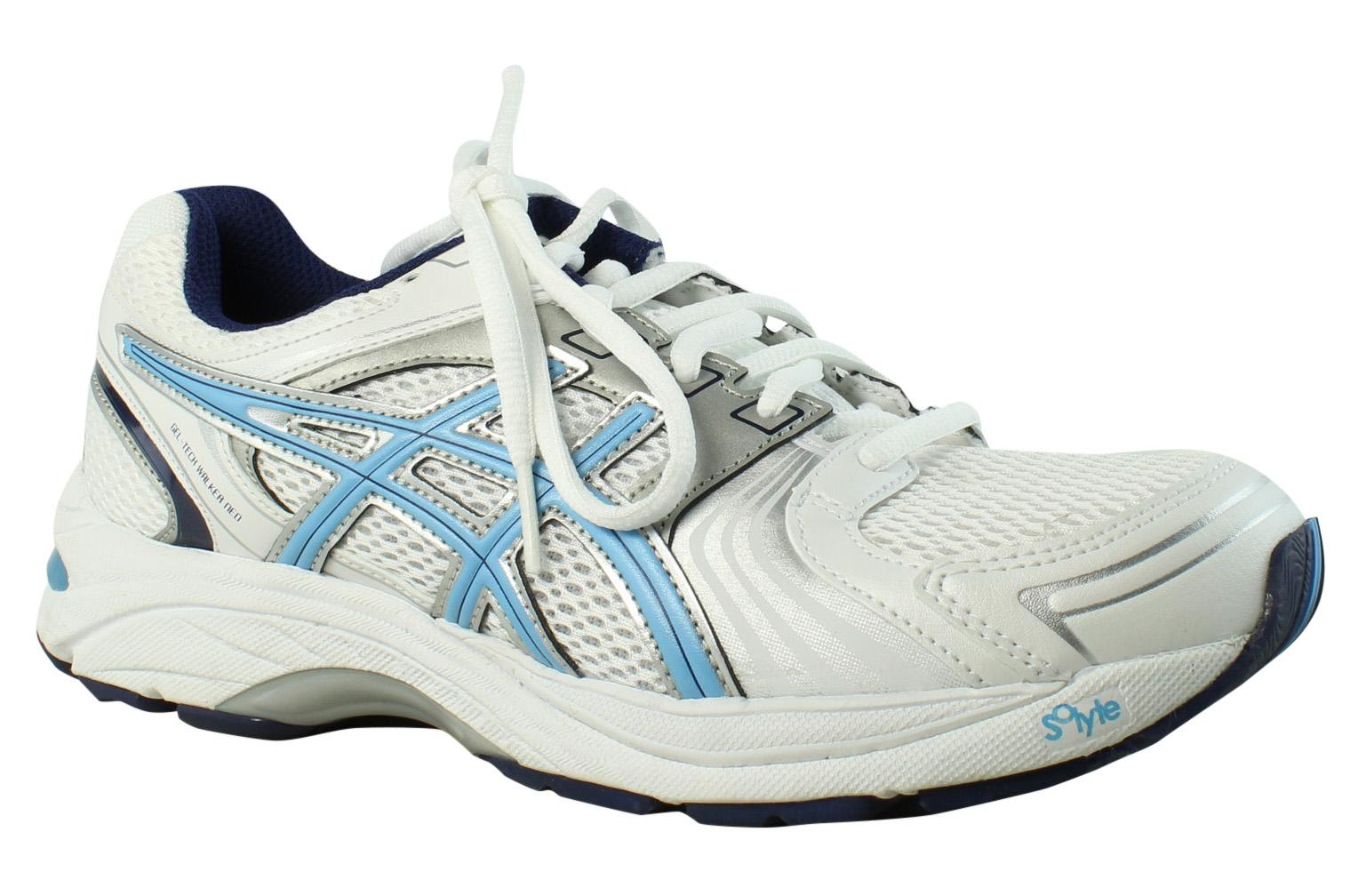 ASICS Damenschuhe Gel-Tech Walker Neo 4 WEISS Walking Schuhes Größe 8 (351839)
