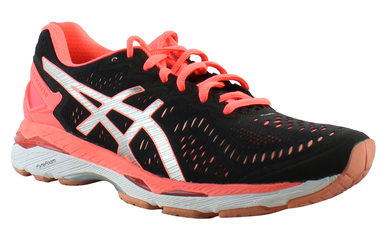 ASICS Womens - Black/Silver/FlashCoral Running Shoes Size 9 (352750)