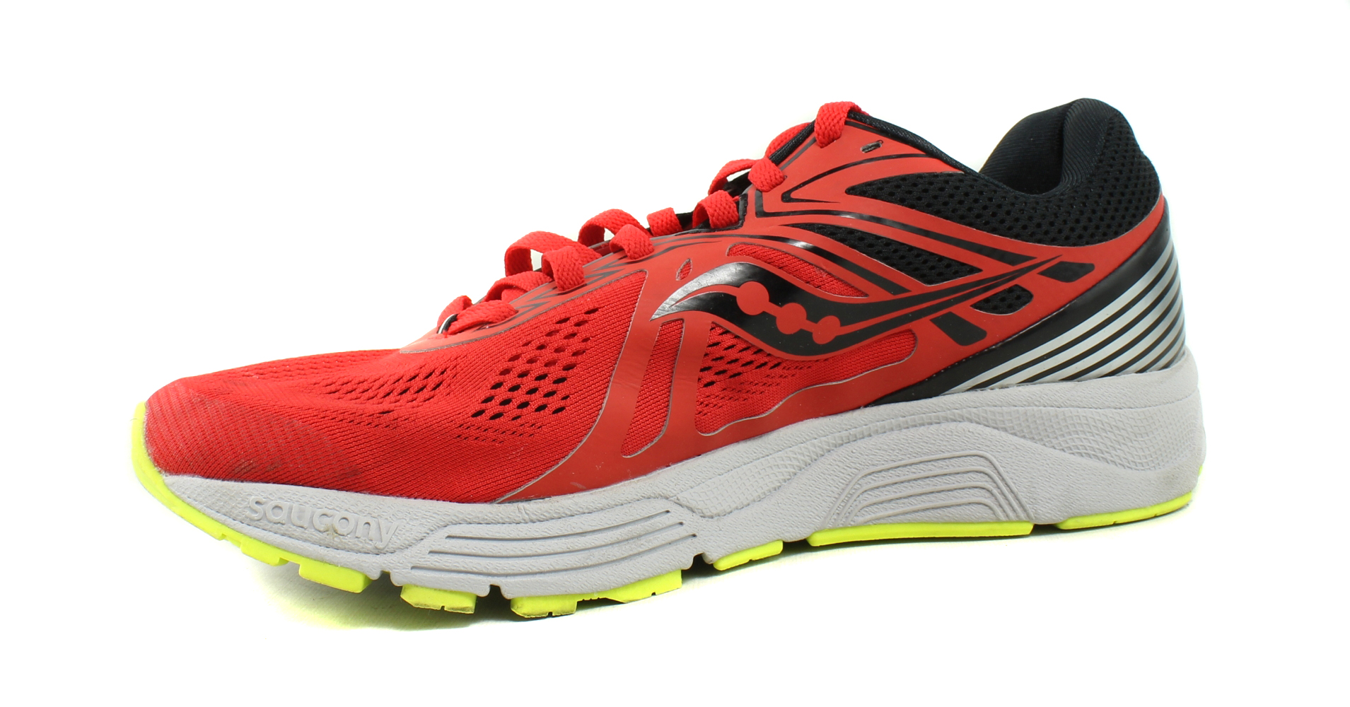 size 40 9e2a5 bf403 ... Saucony Mens Swerve-M Red Black Cotton Running Shoes Size 10 (363211 ...