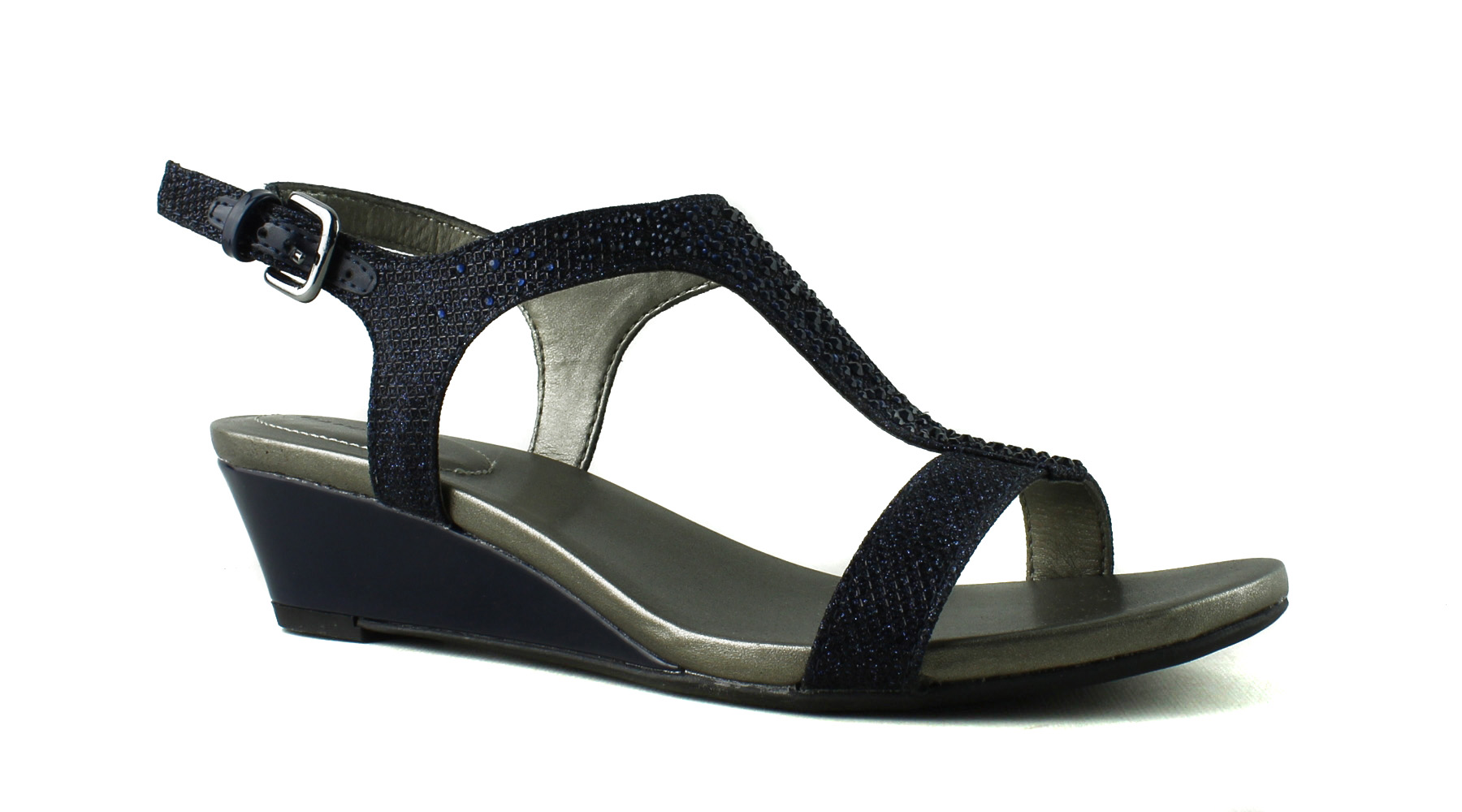 Bandolino Womens Blue Ankle 6 Strap Heels Size 6 Ankle (370099) 4473e8