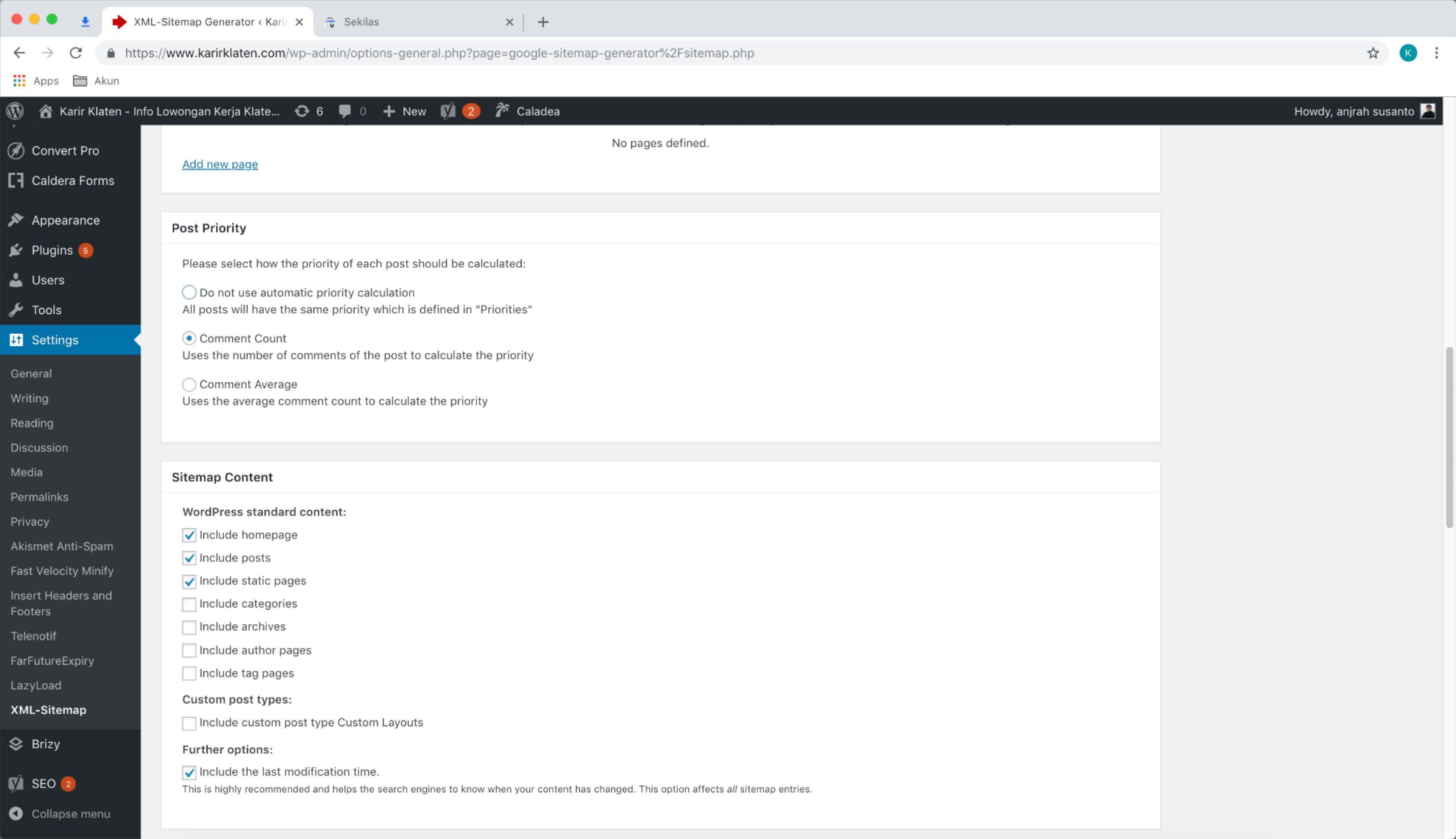 Google xml setting anjrahweb