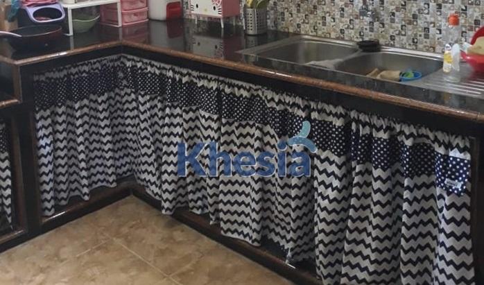 dapur dengan gorden