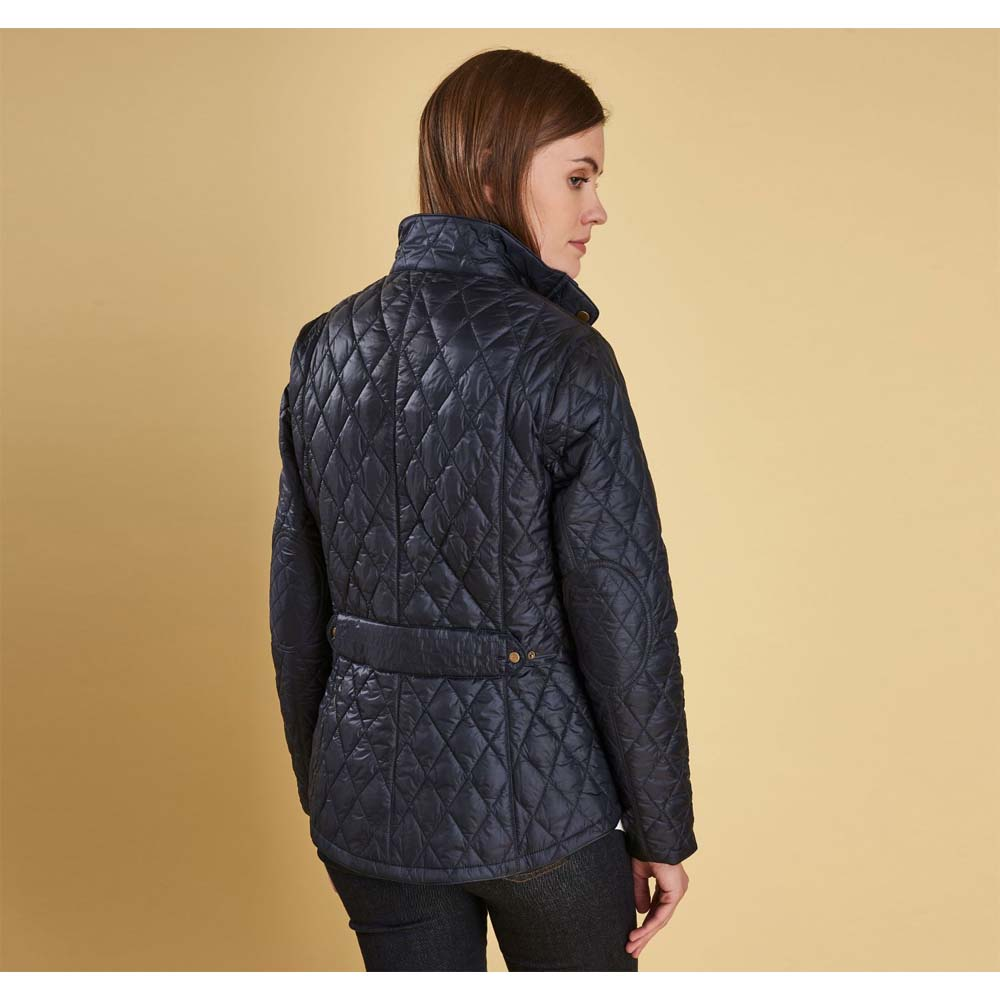 Barbour Victoria Navy and Fuschia Drop Quilted Jacket