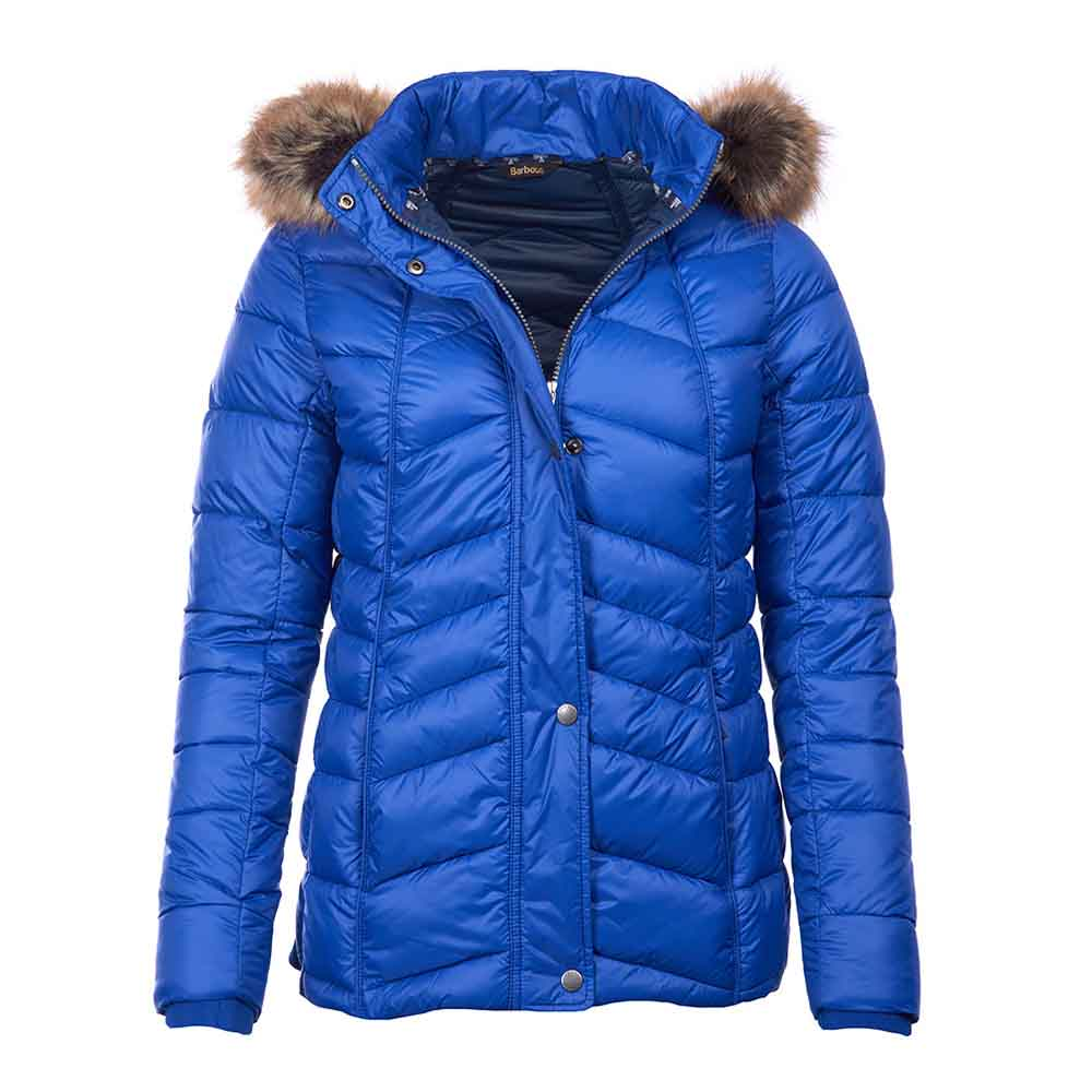 Barbour Bernera Sea Blue and Navy Quilted Jacket