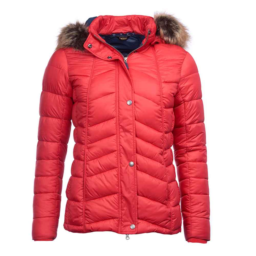 Barbour Bernera Reef Red and Navy Quilted Jacket