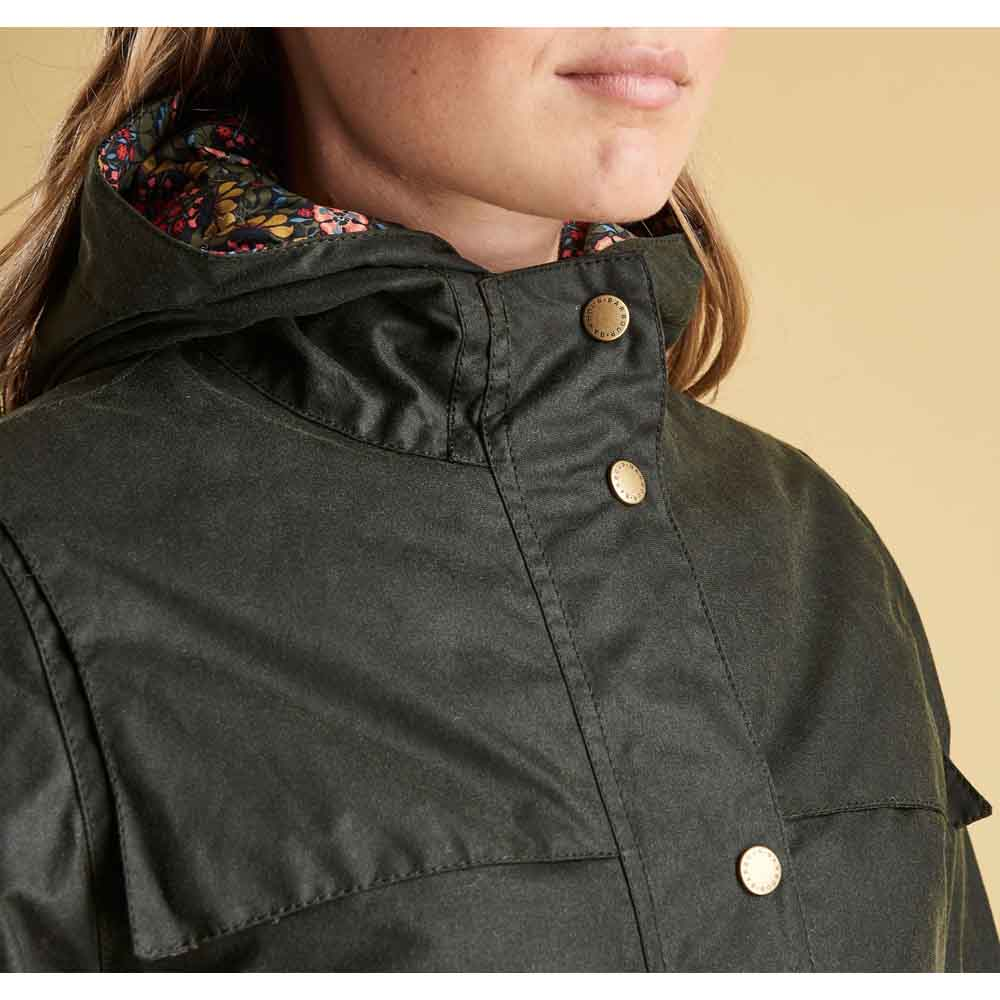 Barbour Blaise Sage and Persiphone Waxed Jacket