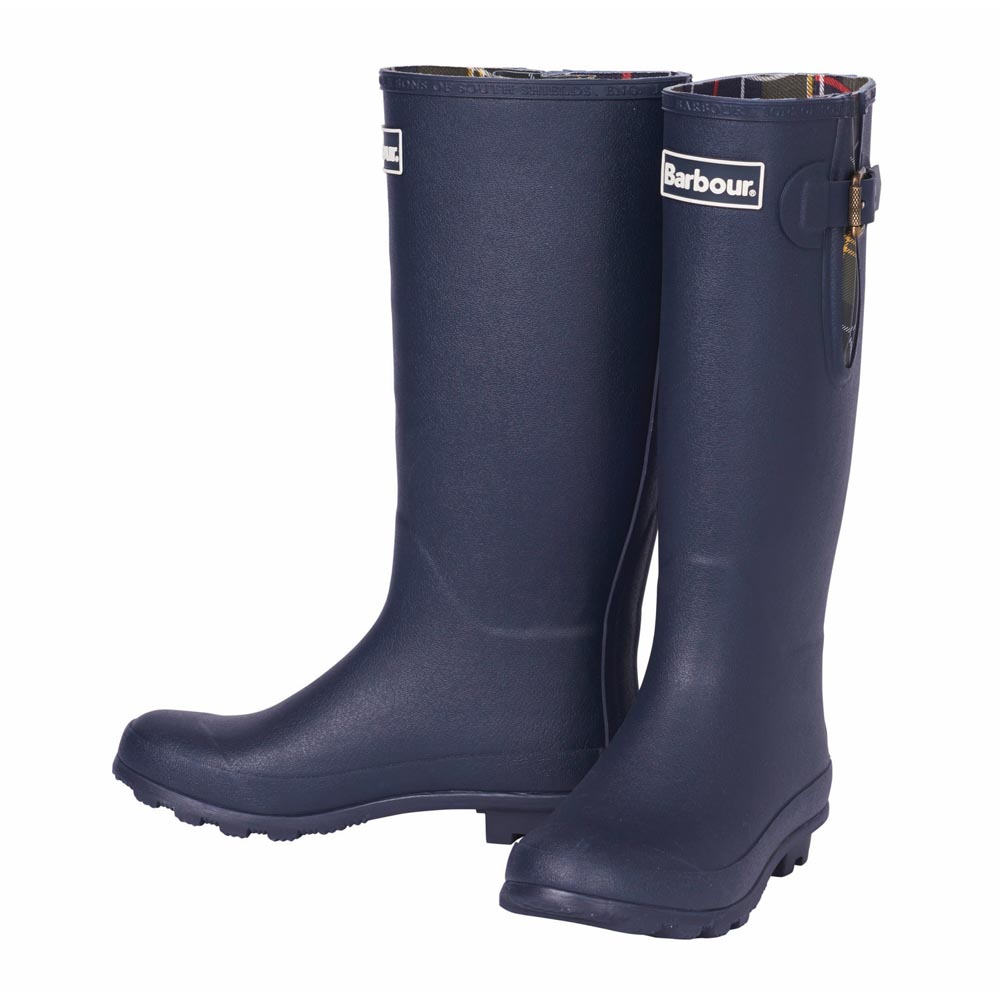 Ladies Barbour Cleadon Navy Wellington Boots