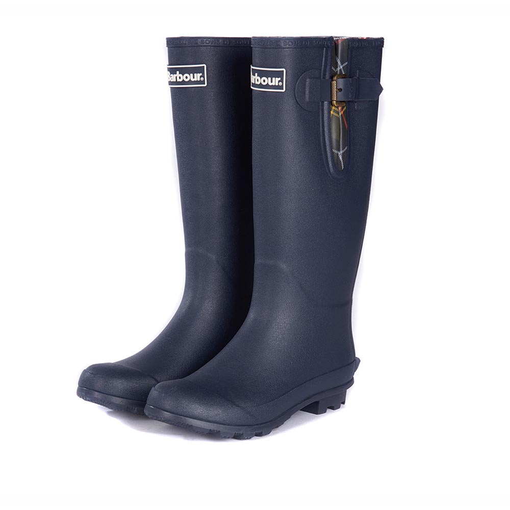 Ladies Barbour Cleadon Navy Wellington Boots