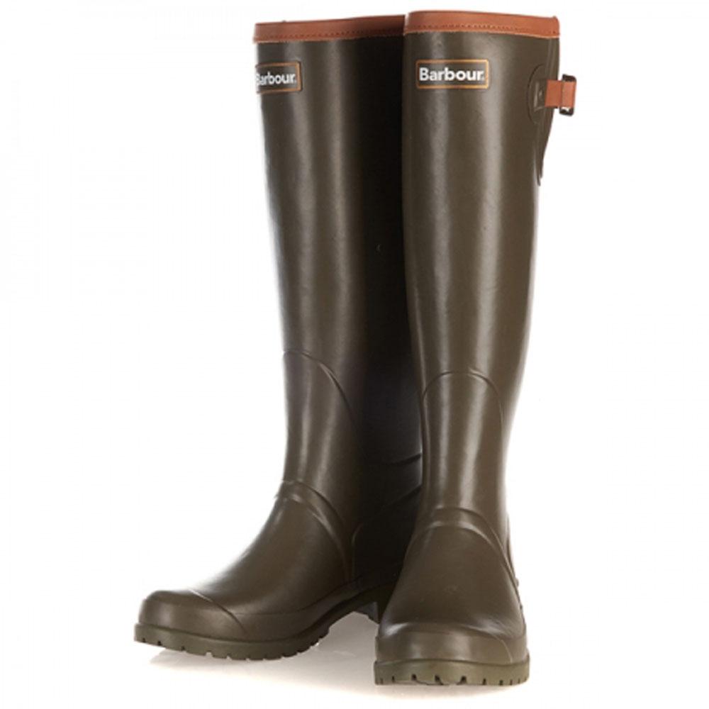 Ladies Barbour Blyth Olive Wellington Boots