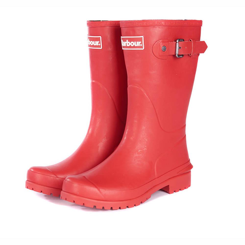 Ladies Barbour Primrose Tartan Red Wellington Boots