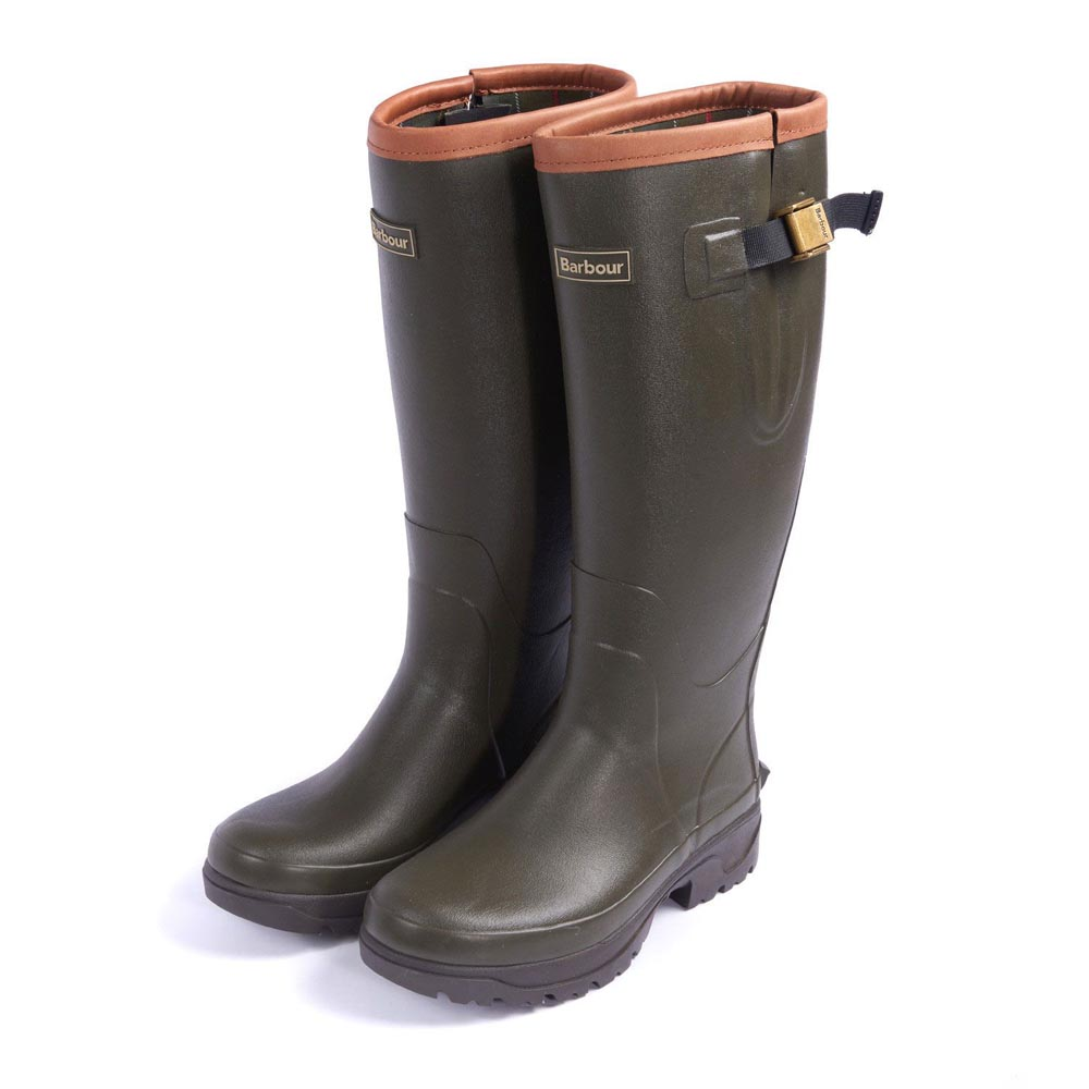 Ladies Barbour Tempest Olive Wellington Boots
