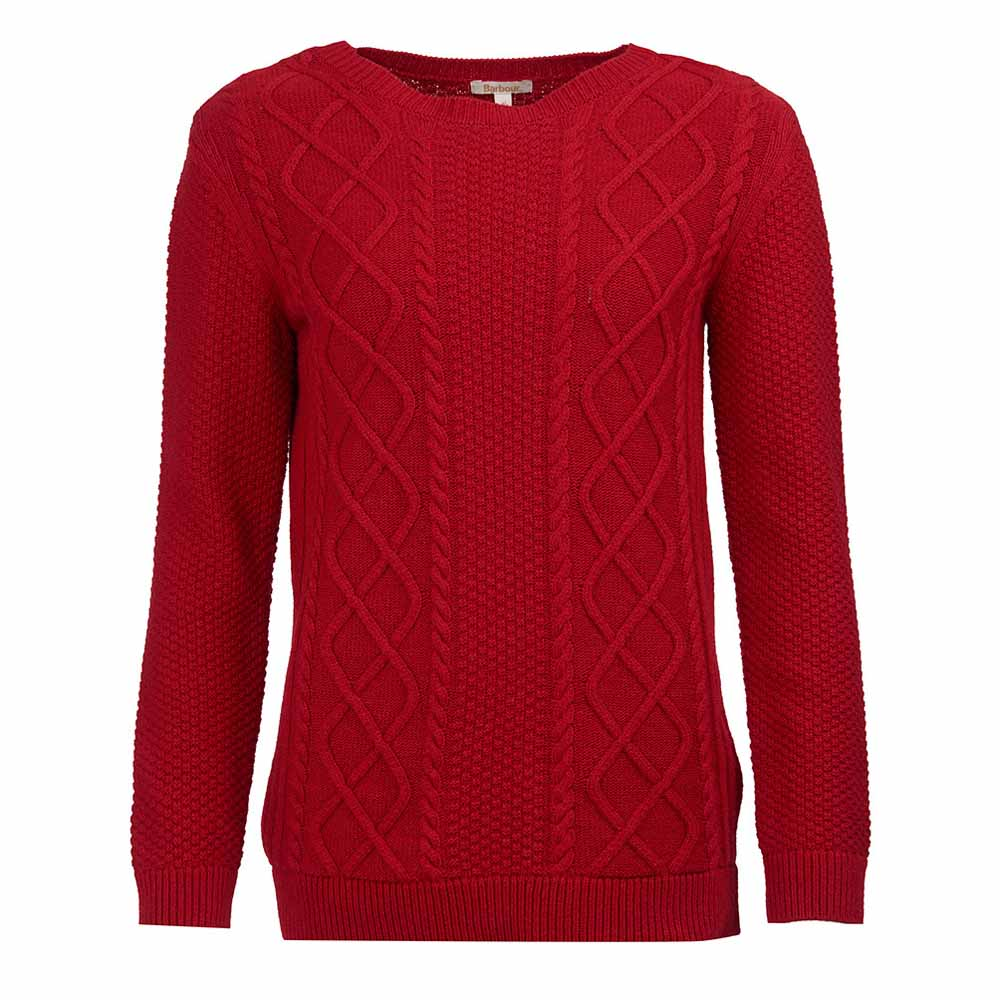 Barbour Leith Chilli Red Leith Crew Knit