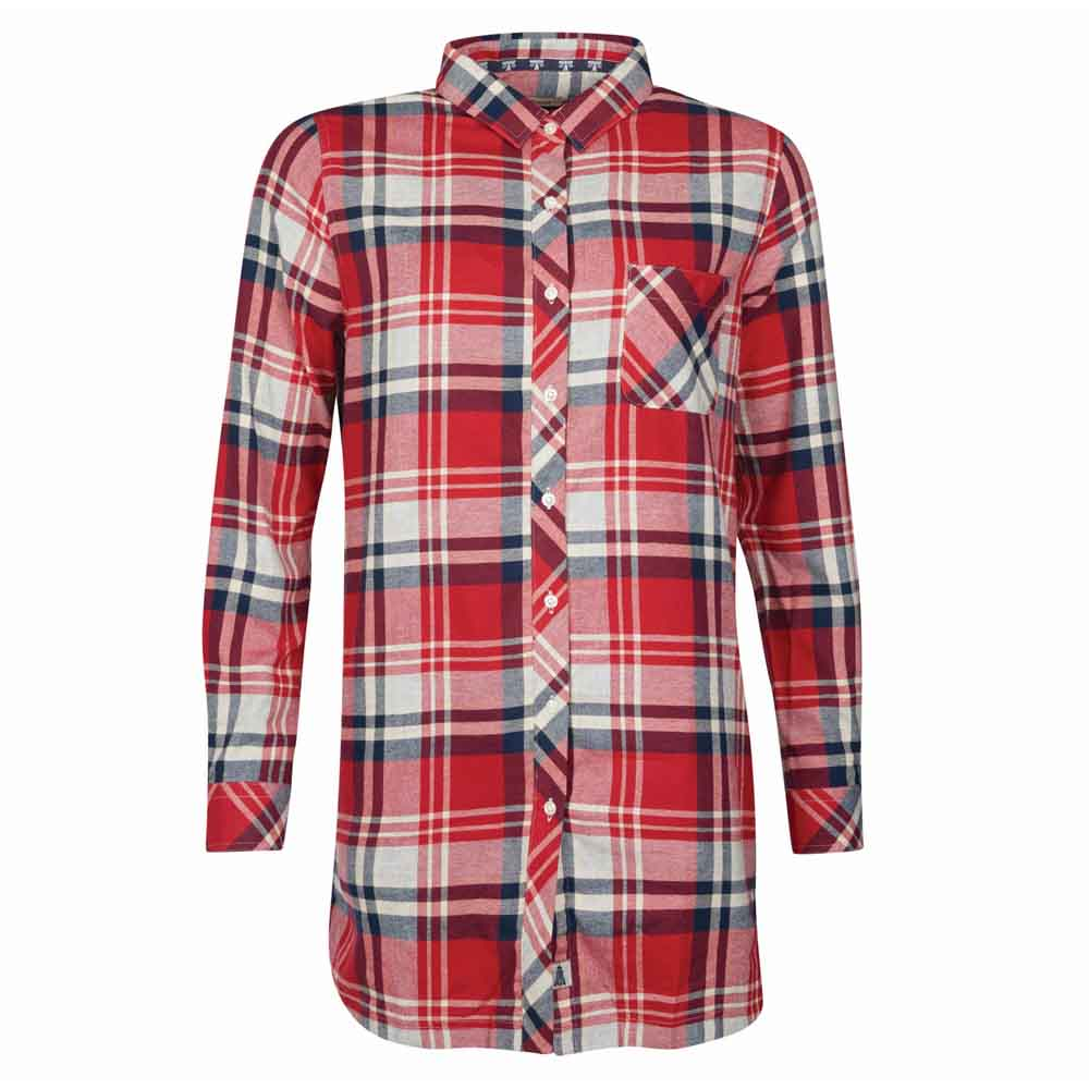 Barbour Bressay Grey and Red Shirt