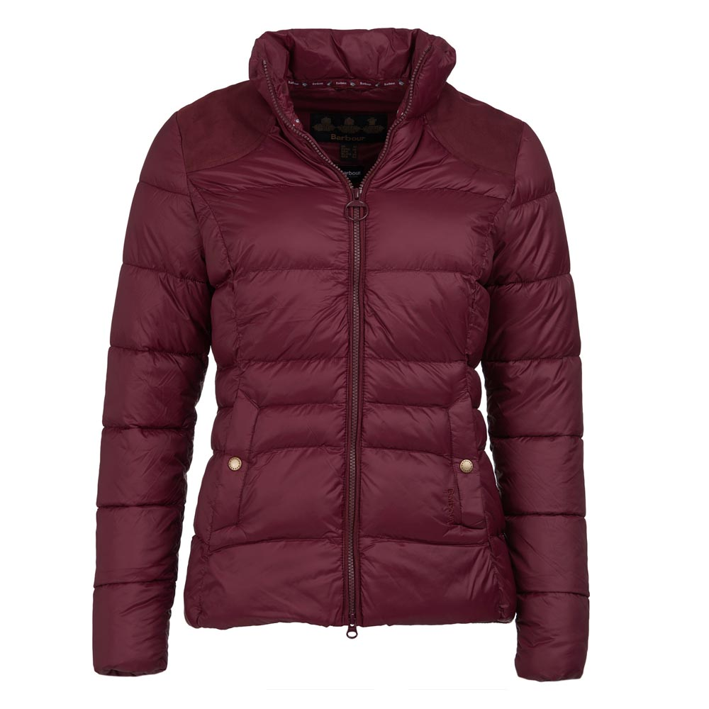BARBOUR BRECON BORDEAUX QUILTED JACKET