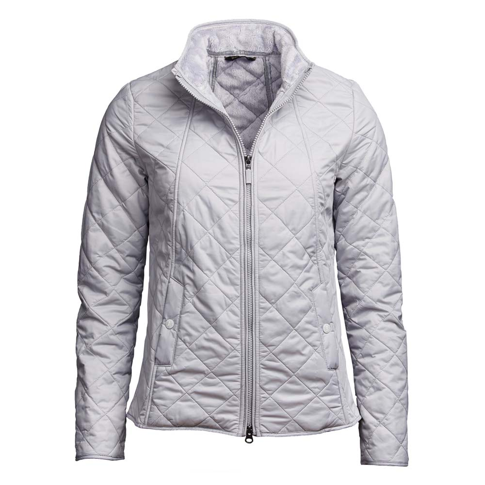 Barbour Backstay Ice White Quilted Jacket