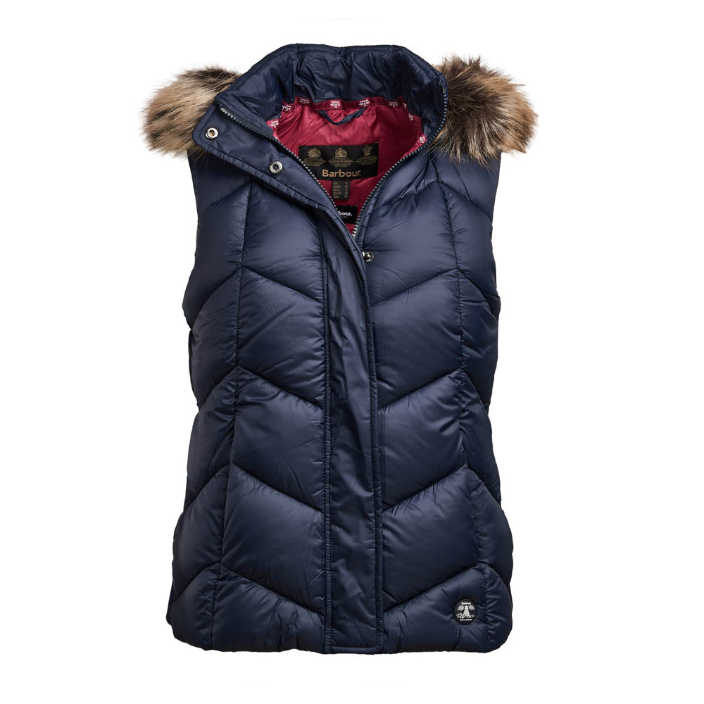 Barbour Downhall Navy/Deep Pink Gilet