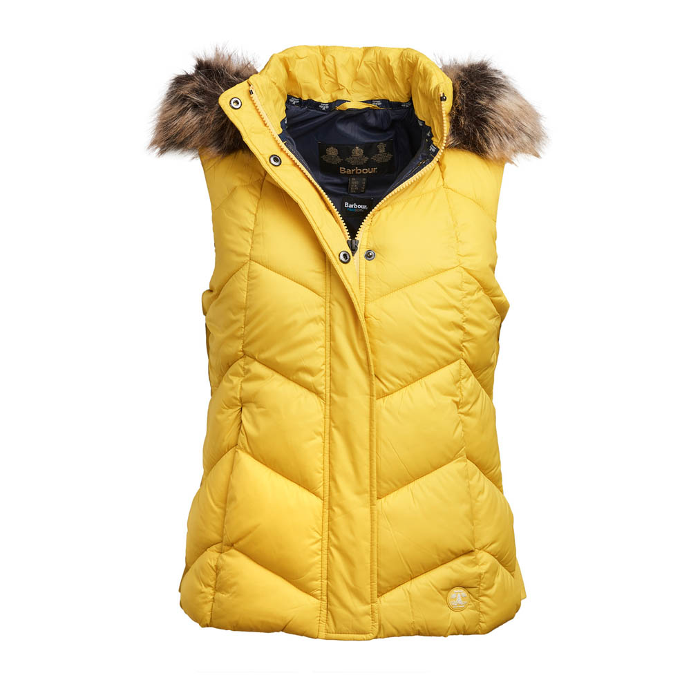 BARBOUR DOWNHALL YELLOW GILET